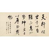 夏广田 四尺《天行健 君子以自强不息》著名启功体书法家(询价)