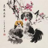 【已售】尹和平 四尺斗方《春暖花开》 当代乡土童趣绘画名家