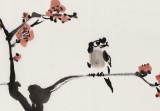 庾超然 四尺三开《春在枝头》 黄鹤楼书画院院长