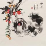 尹和平 四尺斗方《兴旺》 当代乡土童趣绘画名家
