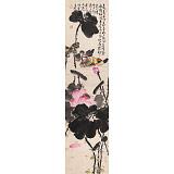 曲逸之 四尺对开《荷叶五寸荷花娇》 中国美术学院著名花鸟画家