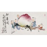 曹建涛 三尺《献寿图》 独具特色水墨19461188伟德家