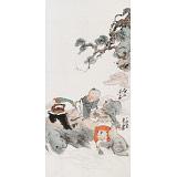 曹建涛 三尺《春水煎茶》 独具特色水墨19461188伟德家