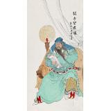【已售】曹建涛 四尺《关帝圣君像》 独具特色水墨人物画家