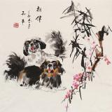 尹和平 四尺斗方《相伴》 当代乡土童趣绘画名家
