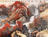 【已售】蒋元发 小六尺《源远流长》 广西著名山水画家