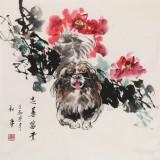 【已售】尹和平 四尺斗方《忠善富贵》 当代乡土童趣绘画名家