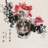 尹和平 四尺斗方《忠善富贵》 当代乡土童趣绘画名家