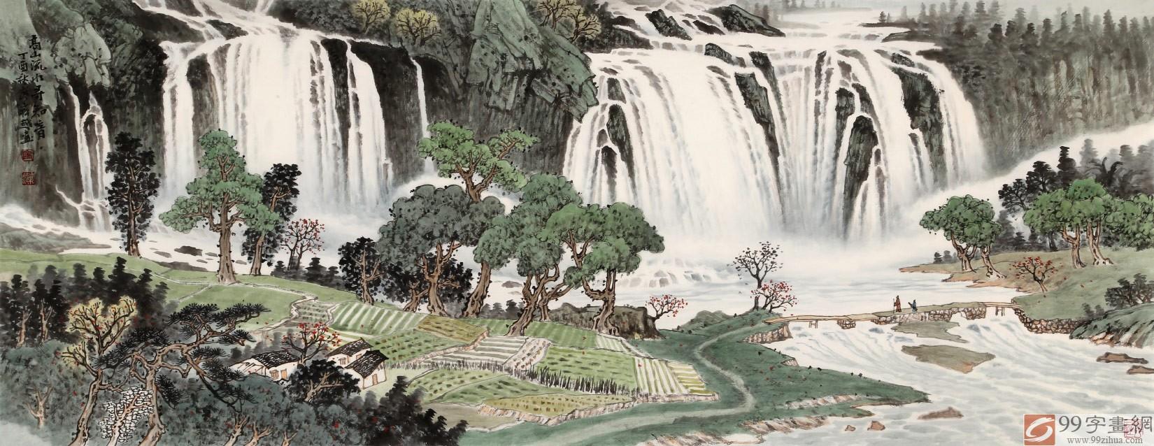 廖崧越 小六尺《高山流水寻知音》 广西桂林美协会员
