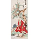 曹建涛 四尺范扬笔意《罗汉图》 独具特色水墨人物画家