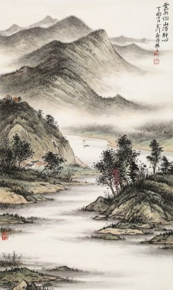 刘金河 三尺《云水怡山得静心》 国家画院山水名家