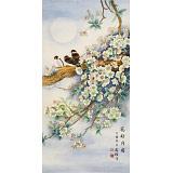 赵逸梅 三尺《花好月圆》 著名工笔画家