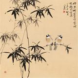 皇甫小喜 四尺斗方《竹深树密虫鸣处》 河南著名花鸟画家