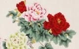 凌雪 小六尺《花开富贵》 北京美协会员