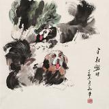 尹和平 四尺斗方《百财兴旺》 当代乡土童趣绘画名家