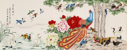 凌雪 小六尺《百鸟朝凤》 北京美协会员