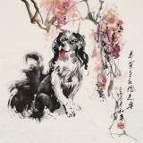 尹和平 四尺斗方《万紫千红总是春》 当代乡土童趣绘画名家