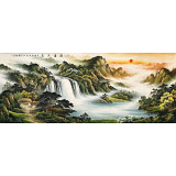 【已售】杨铭昌 小八尺《源远流长》 安徽山水画研究协会理事