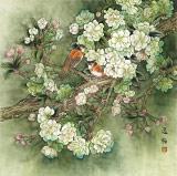 赵逸梅 四尺斗方《清香久远》 著名工笔画家