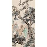 曹建涛 四尺《禅悟图》独具特色水墨人物画家