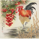 赵逸梅 四尺斗方《大吉大利》 著名工笔画家