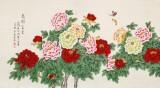 凌雪 六尺《花开富贵》 北京美协会员