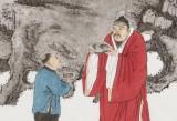 赵开新 四尺斗方《赏石图》 中美协会员 国家画院画家(询价)