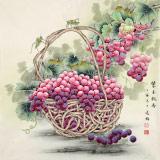 赵逸梅 四尺斗方《紫玉飘香》 著名工笔画家