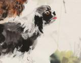 尹和平 四尺斗方《双旺图》 当代乡土童趣绘画名家