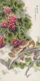 赵逸梅 四尺《紫露含香》 著名工笔画家
