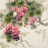 【已售】赵逸梅 四尺斗方《紫气东来》 著名工笔画家