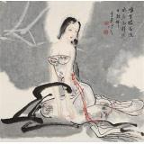 李凤英 四尺斗方《秋水》 北京美协会员