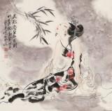 李凤英 四尺斗方《花影忽坐知月到》 北京美协会员