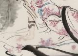 李凤英 四尺斗方《行云有影月含羞》 北京美协会员