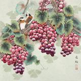 赵逸梅 四尺斗方《紫气东来》 著名工笔画家