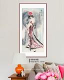 【已售】李凤英 四尺《贵妃出浴》 北京美协会员