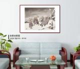 韩恩胜 四尺三开《慵闲无一事》中美协会员 水墨漫画名家
