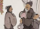 韩恩胜 四尺三开《恭贺新禧》中美协会员 水墨漫画名家