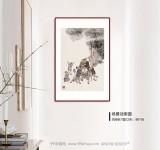 韩恩胜 四尺三开《难忘的战斗》中美协会员 水墨漫画名家