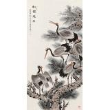 朱祖义 四尺《松鹤延年》 中国老子书画院副院长