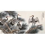 朱祖义 四尺《松龄鹤寿》 中国老子书画院副院长