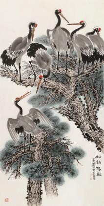 朱祖义 四尺《松韵仙风》 中国老子书画院副院长