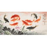 周升达 四尺《富贵久鱼》 中国画院国画组长(询价)