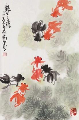 【已售】王永刚 四尺三开《龙之子孙》 国家一级美术师(询价)