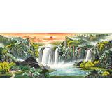 【已售】吴东 小八尺《宝地生金》 著名易经风水画家