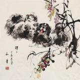 尹和平 四尺斗方《旺旺》 当代乡土童趣绘画名家