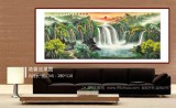 吴东 小八尺《福地安居图》 著名易经风水画家