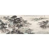 李碧峰 小六尺《松涧观泉图》 中国书画家协会理事