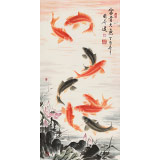 【已售】周升达 三尺《富贵久鱼》 中国画院国画组长