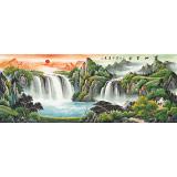 吴东 小六尺《宝地生金》 著名易经风水画家